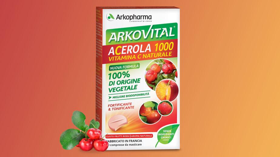 acerola 1000 vitamina c naturale arkovital arkipharma 30 compresse da masticare farmacia acquaviva livorno